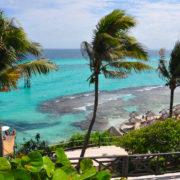 Perfect tropical sea landscape. island Isla Mujeres (Women Islan