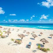 Cancun beach panorama, Mexico