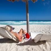 Caribbean vacation on beach