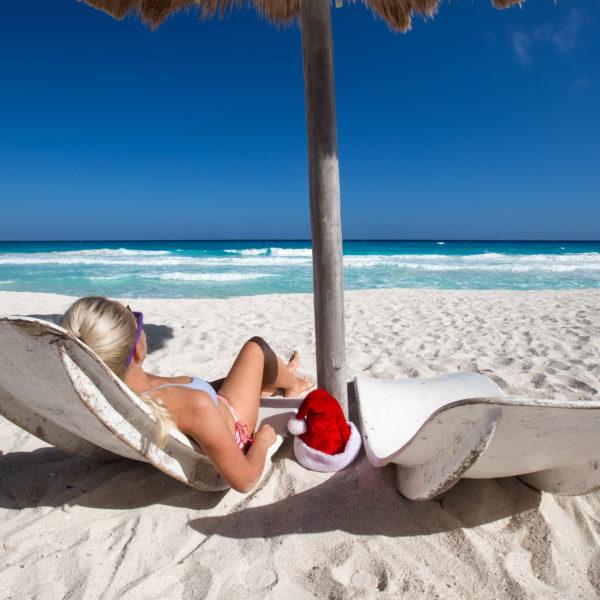 Caribbean vacation on sandy beach